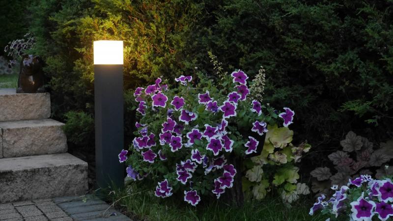 prostokatne lampy do ogrodu