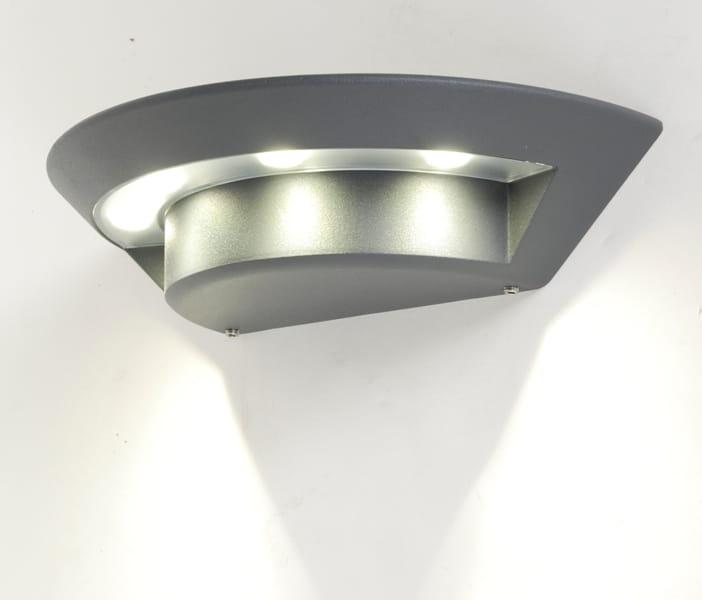 Niewiarygodnie Lampa zewnętrzna UFO aluminium KINKIET SU-MA LED DT96