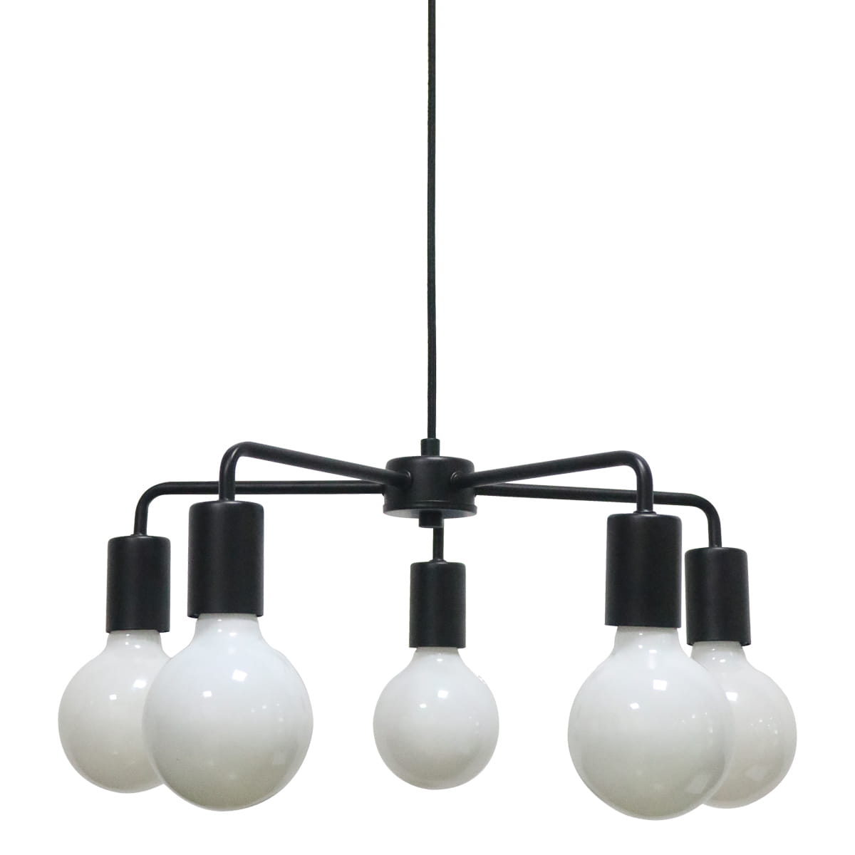 Bardzo dobryFantastyczny Lampa sufitowa IRINA czarna Industrialna Italux MD-BR1721401-D5-B CM74