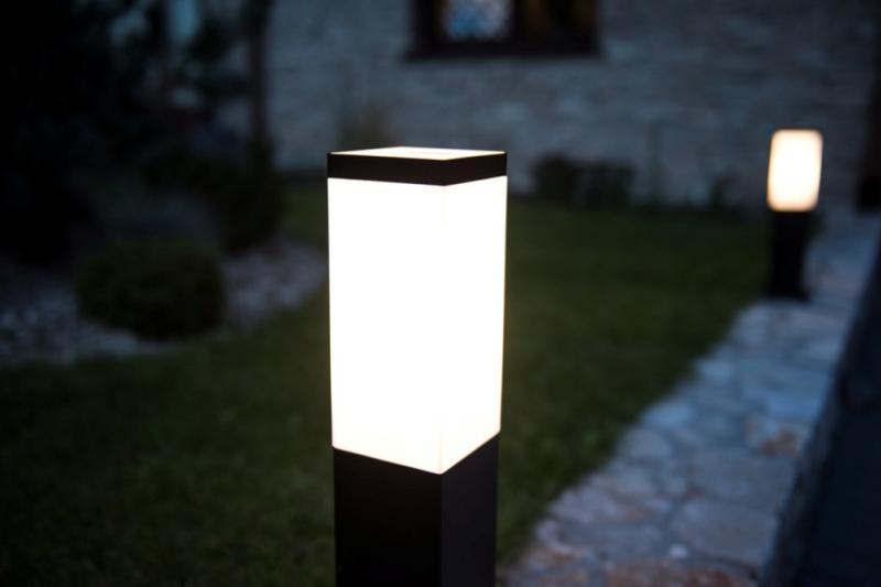 lampy ogrodowe stojące słupek 65 cm led